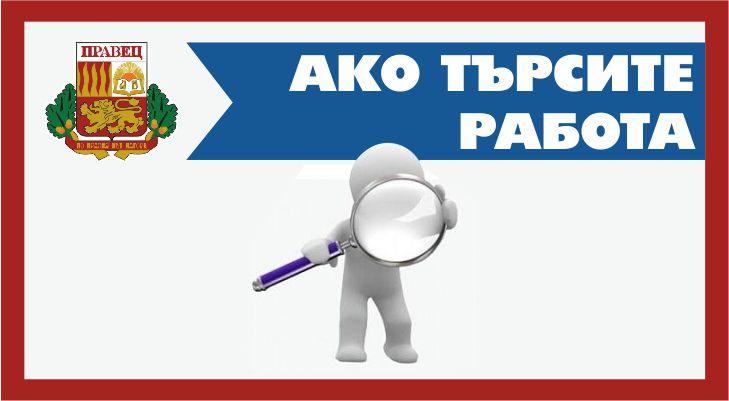 Община Правец търси да назначи следните специалисти